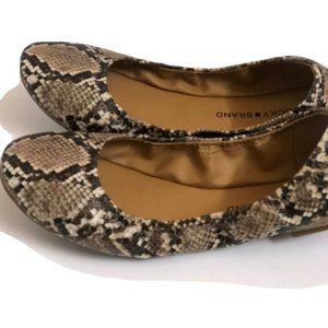 Lucky Brand Women's Shoes 9 Leather Ballet animal